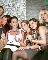 Chicks fucking and sucking a real horny sailor at a club