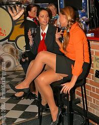 Drunk sweethearts love undressing and fucking hard at a bar